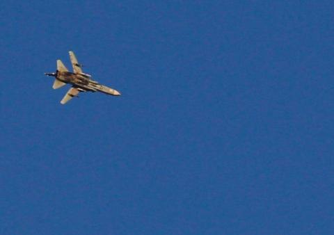 Syrian fighter jet spotted near Golan Heights
